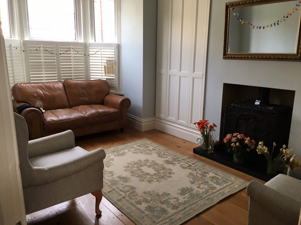 Comfortable counselling room in Victorian House, Southsea